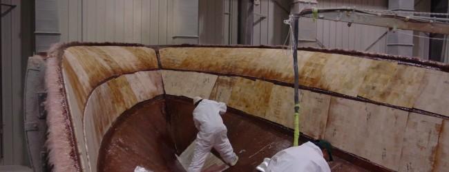 Building a fiberglass hull