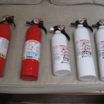 Portable marine fire extinguishers